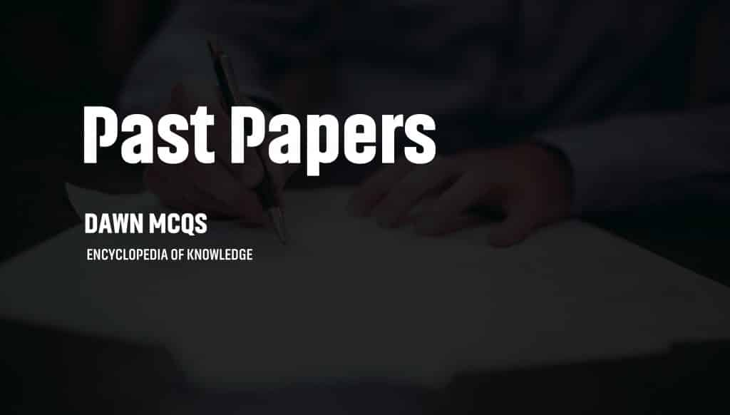 fpsc past papers